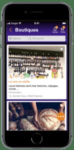 écran commerçant app wedeal - 2