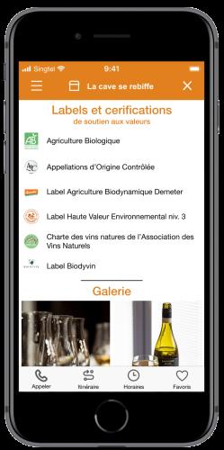 écran commerçant app wedeal - 1