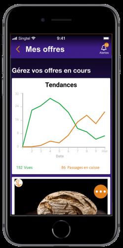 écran commerçant app wedeal - 3