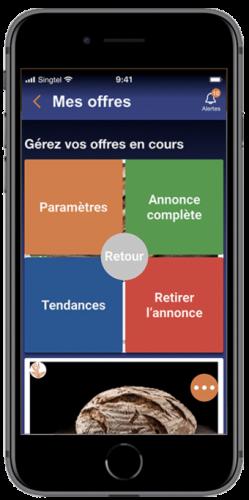 écran commerçant gestion d'offres app wedeal - 2